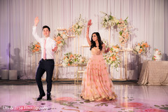Upbeat indian bride and groom's dance performance