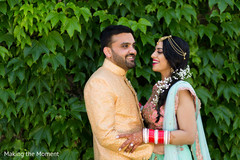 Cheerful Indian love birds outdoors photography.
