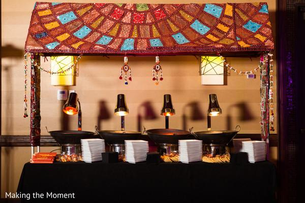 sangeet mandap,indian pre-wedding decor,indian sangeet decor,sangeet buffet