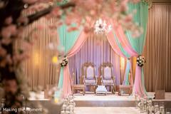 Marvelous Indian wedding ceremony mandap decoration.