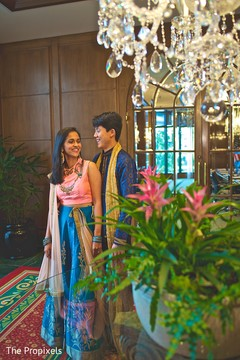 The couple prior to the sangeet