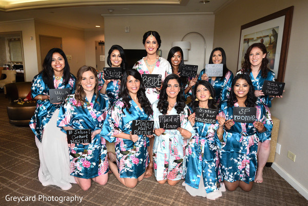 indian bride,indian bridesmaids,indian bridal hair and makeup