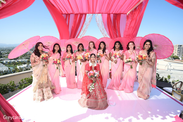 indian bride,indian wedding ceremony fashion,indian bridesmaids