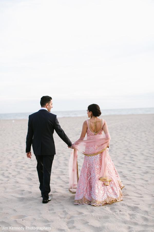 Gorgeous blush bridal lengha