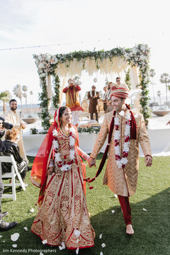 Cheers to the new indian couple