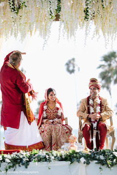 Lovely indian couple during their wedding ceremony