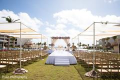 Dreamy indian wedding ceremony venue decor.