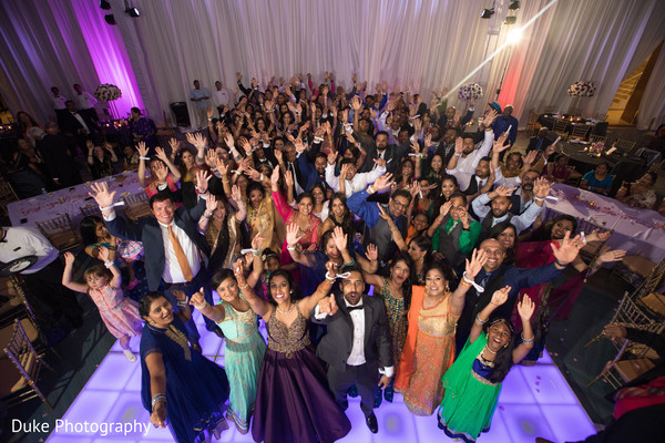 indian wedding reception fashion,indian bride and groom,indian wedding dance floor