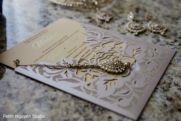 Delicate indian wedding invitation