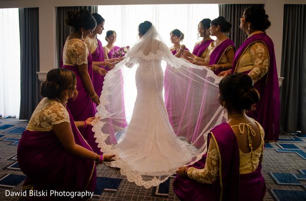 indian wedding,bridesmaids,white dress,maharani