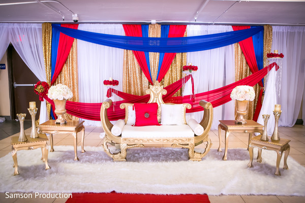 Colorful capture of the photo shoot space for the Indian wedding