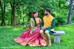 Indian lovebirds during sangeet