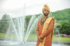 Indian groom waiting for the bride