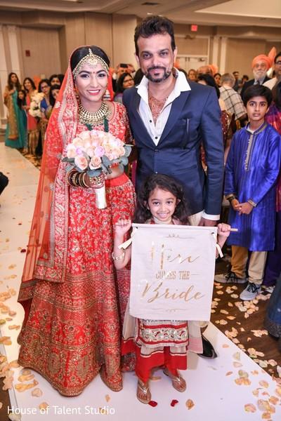 Indian bride entering her wedding