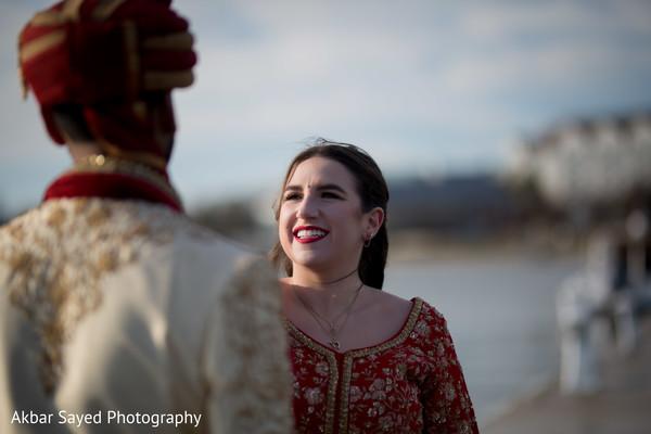 Maharani smiles as the photo shoot continues.