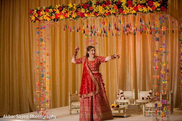 Stunning maharani smiles as photo shoot continues.