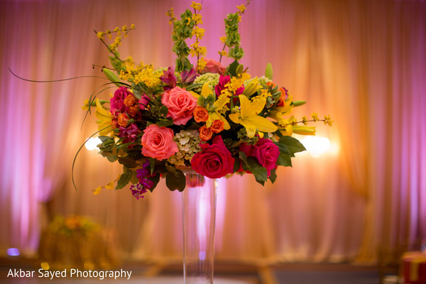 indian wedding,newlyweds,reception,center pieces