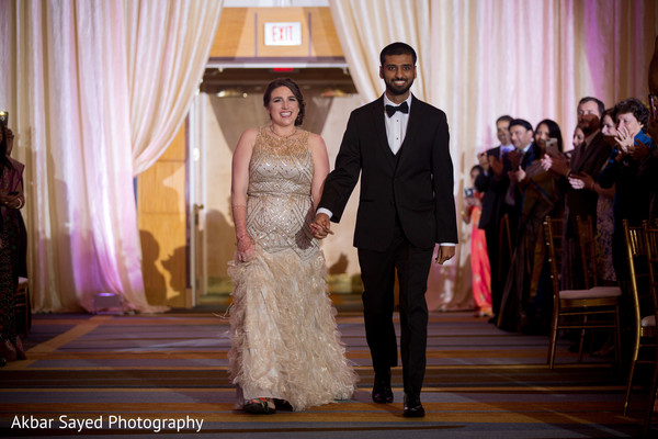 indian wedding,reception,newlyweds,guests
