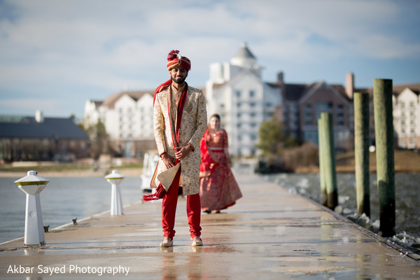 photo shoot,indian wedding,indian groom,dock