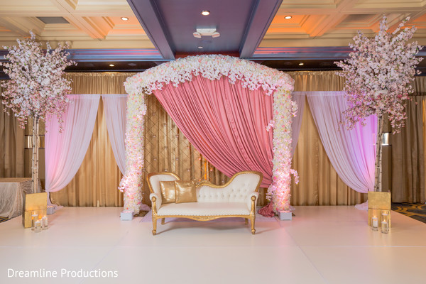 draping,stage,indian wedding,decoration