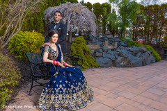 Wonderful capture of the Indian newlyweds outdoors.