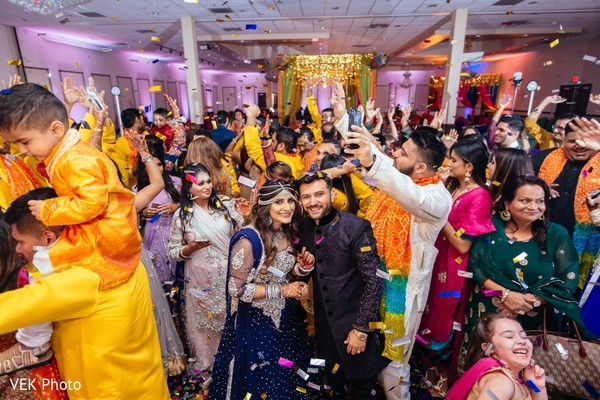 colorful,indian wedding,dance,guests