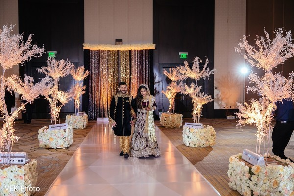 lightning,indian newlyweds,venue,decoration