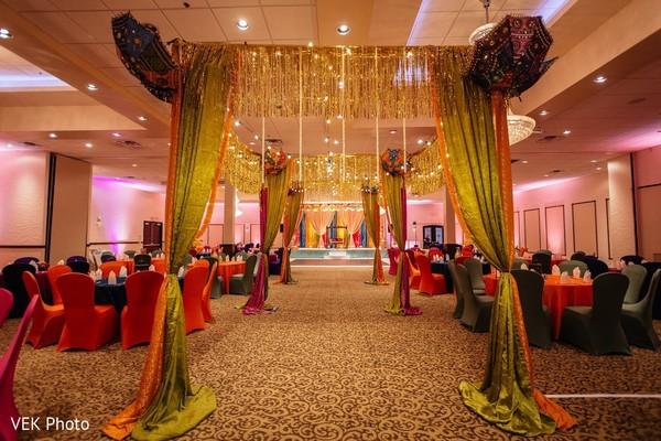venue,indian wedding,lightning,decoration