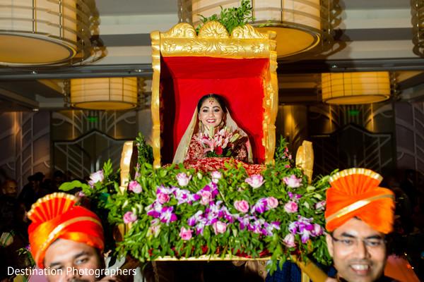 Lovely indian bride making her grand entrance