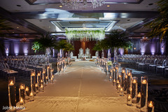 Magnificent Indian wedding ceremony aisle.