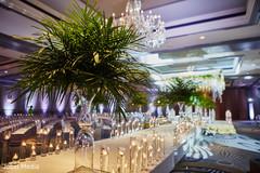 Elegant Indian wedding ceremony aisle decoration.