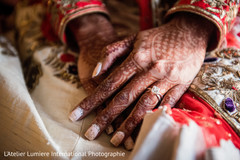 Elegant Indian bride mehndi art.
