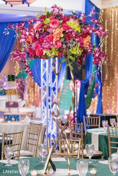 Perfect indian wedding reception floral decor.