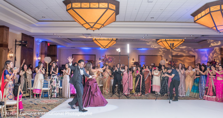 indian bride and groom,indian wedding reception dance