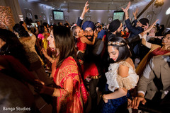 Magnificent Indian wedding reception party.