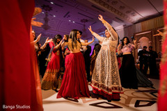 Vibrant indian bridesmaids performance.