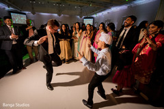 Indian wedding guests showing magnificent dance moves.