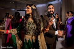 Maharani and Raja wedding reception portrait.