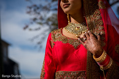 Stunning Indian bride with her ceremony jewelry.