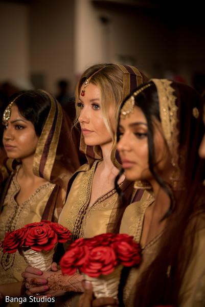indian bridesmaids,indian wedding ceremony,indian wedding fashion