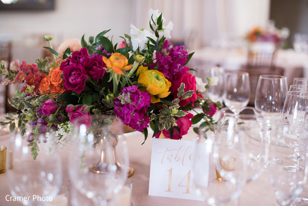 The beautiful center pieces wait for the guests.