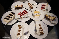Detail of the pieces of cake for the guests.