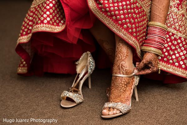 Fabulous indian bride's shoes