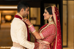 Romantic indian wedding first look
