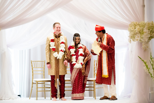 indian fusion wedding,indian couple,draping