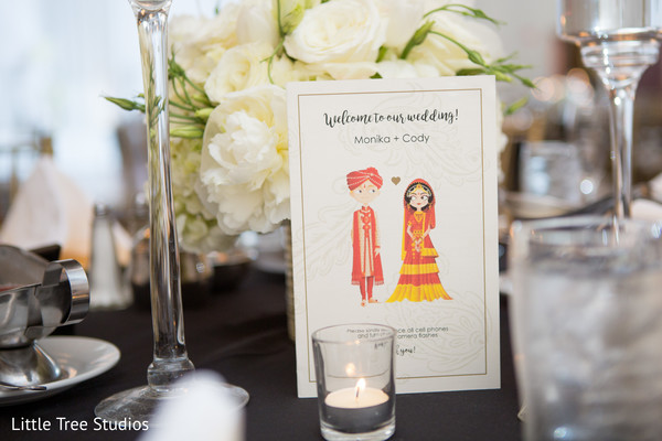 Lovely indian wedding welcome cards