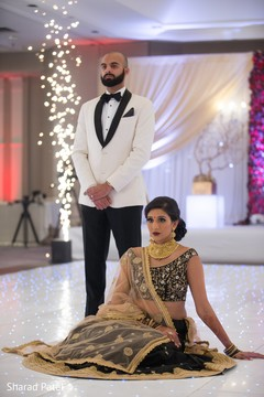 Charming indian couple's wedding reception capture