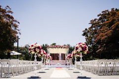 Indian couple's incredible view of the ceremony when they arrive