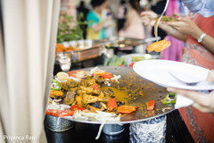 Detail of the delicious food served at the Indian wedding