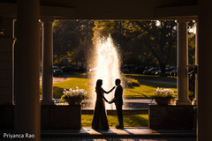 Stunning capture of the Indian newlyweds outside